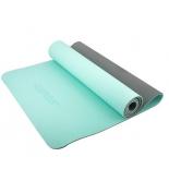 коврик для йоги Starfit FM-201 (173x61x0,6 см), мятно-серый