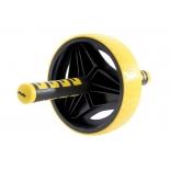 тренажер Ролик для пресса Starfit RL-105, черно-желтый