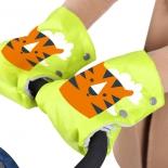 рукавички для коляски Ника Тигр (РС2), жёлтые
