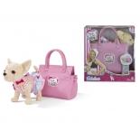 игрушка мягкая Simba собачка Чихуахуа в платье (с сумкой)