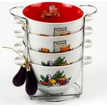 Набор посуды Wellberg 20707 WB Деколь-баклажан (бульонницы), купить за 1 065руб.