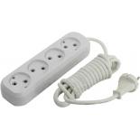 удлинитель электрический Smartbuy SBE-10-4-03-N 3м (4 розетки), белый