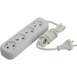 удлинительный кабель Smartbuy SBE-10-4-02-N 2м (4 розетки), белый