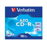оптический диск CD-R Verbatim Crystal AZO (10 шт)