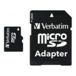 карта памяти Verbatim 44081 microSDHC Class 10 8GB (с адаптером)