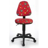 компьютерное кресло Бюрократ KD-4/R/LB-Red, красный божьи коровки