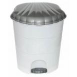 ведро мусорное Violet 0511/1 (11 л), бело-серое