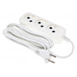 удлинитель электрический Сетевой Buro BU-PSL3.3/W 3м (3 розетки, пакет ПЭ), белый