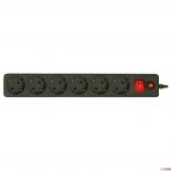 сетевой фильтр CBR CSF 2600-3.0 Black CB (3 м), черный
