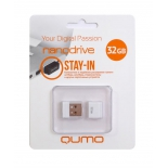 usb-флешка Qumo nanoDrive 32Gb, белая