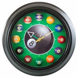 часы интерьерные 12 шаров, черные