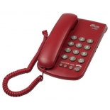 проводной телефон Ritmix RT-350, красный