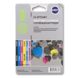 картридж для принтера Cactus CS-EPT0487 черный/голубой/пурпурный/желтый/светло-голубой/светло-пурпурный