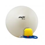 мяч гимнастический Starfit GB-102 85 см, с насосом, белый
