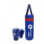 детский боксерский набор Rusco 4oz к/з синий