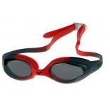 очки плавательные Arena Spider Jr (92338 54), красный-дым-черный