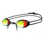 очки плавательные Arena Swedix Mirror (92399 48), красно-желто-черные