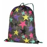 рюкзак спортивный Nosimoe 3115 звезды цветные, серый