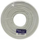 кабель (шнур) 5bites TEL4615-100S-WH (ШТЛП-4, телефонный, CCS, 100 м), белый