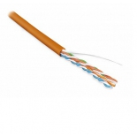 кабель (шнур) Hyperline UUTP4-C5E-S24-IN-PVC-OR-30, одножильный, оранжевый