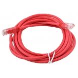 кабель (шнур) Aopen UTP 5е (10м), Красный