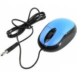 мышка CBR CM 102 USB, черно-голубая