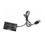 USB-концентратор Buro BU-HUB4-U2.0, черный