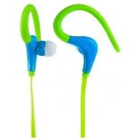 наушники Perfeo PF-FNS-GRN/BLU, зеленые с синим