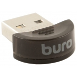 адаптер Bluetooth Buro BU-BT21A Bluetooth 2.1+EDR class 2 10м, черный