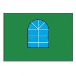 тент садовый Торг-Хаус, Стенка с окошком 3 м, (для шатра гармошки 6х6,м) зеленая