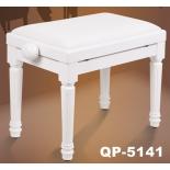 банкетка Vision фортепианная QP-5141 белая