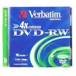 оптический диск Verbatim DVD-RW 4.7 Gb, (43285), jewel case