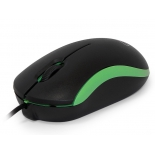мышка CBR CM 112, черная-зеленая