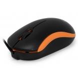 мышка CBR CM 112, черная-оранжевая