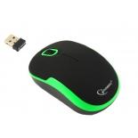 мышка Gembird MUSW-200 Black-Green USB, черно-зеленая