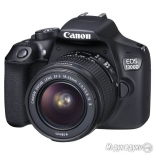 цифровой фотоаппарат Canon EOS 1300D KIT (EF-S 18-55mm IS II), черный