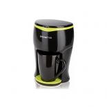 кофеварка Polaris PCM0109 350Вт, черный/салатовый