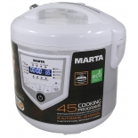 мультиварка Marta MT-4308, белая/сталь