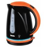 чайник электрический BBK EK1701P, черный/оранжевый