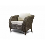 кресло садовое 4SiS Римини с белыми подушками серое
