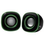 компьютерная акустика BBK CA-301S, черно-зеленая