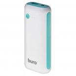 аккумулятор универсальный Мобильный аккумулятор Buro RC-5000WB 5000mAh, белый/голубой