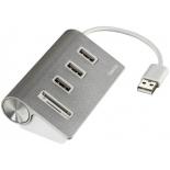USB-концентратор Hama Kombi 54142, серебристый