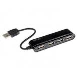 USB-концентратор Ginzzu GR-434UB, черный