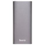 аккумулятор универсальный Мобильный аккумулятор Buro RB-10000-QC3.0-I&O 10000mAh, темно-серый