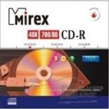 оптический диск CD-R Mirex printable inkjet 700Mb (100 шт)