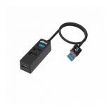 USB-концентратор Ritmix CR-3402, черный