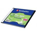 Оптический диск Verbatim CD-RW 700 Мб (43762) 12x slim case (1 шт)