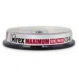 Оптический диск Mirex CD-R 700 Mb, Maximum, Cake Box (10 шт)