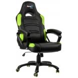 игровое компьютерное кресло Aerocool AC80C-BG, черно-зеленое